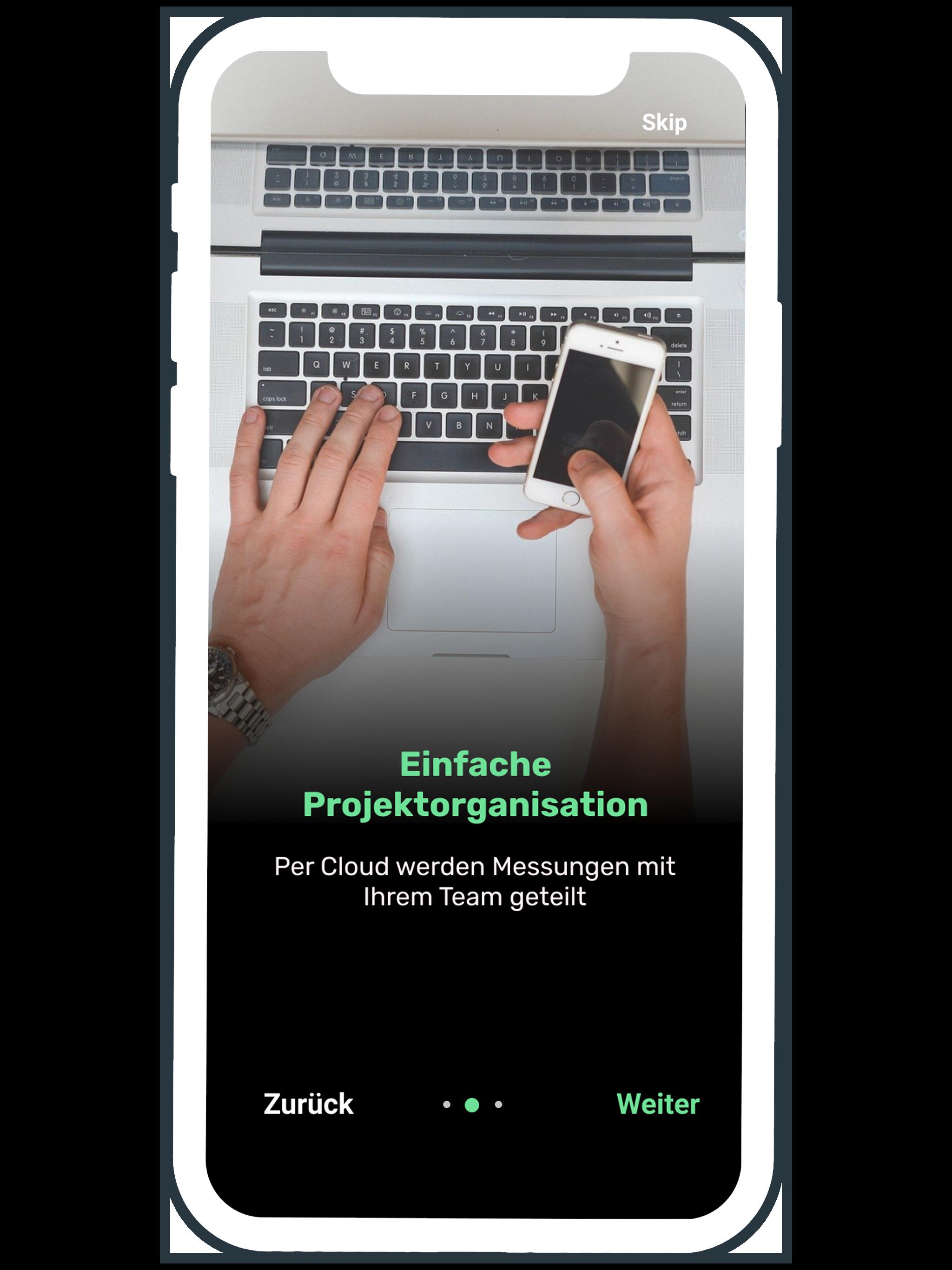 Einfache Projektorganisation mit der Aufmaß App smart to plan