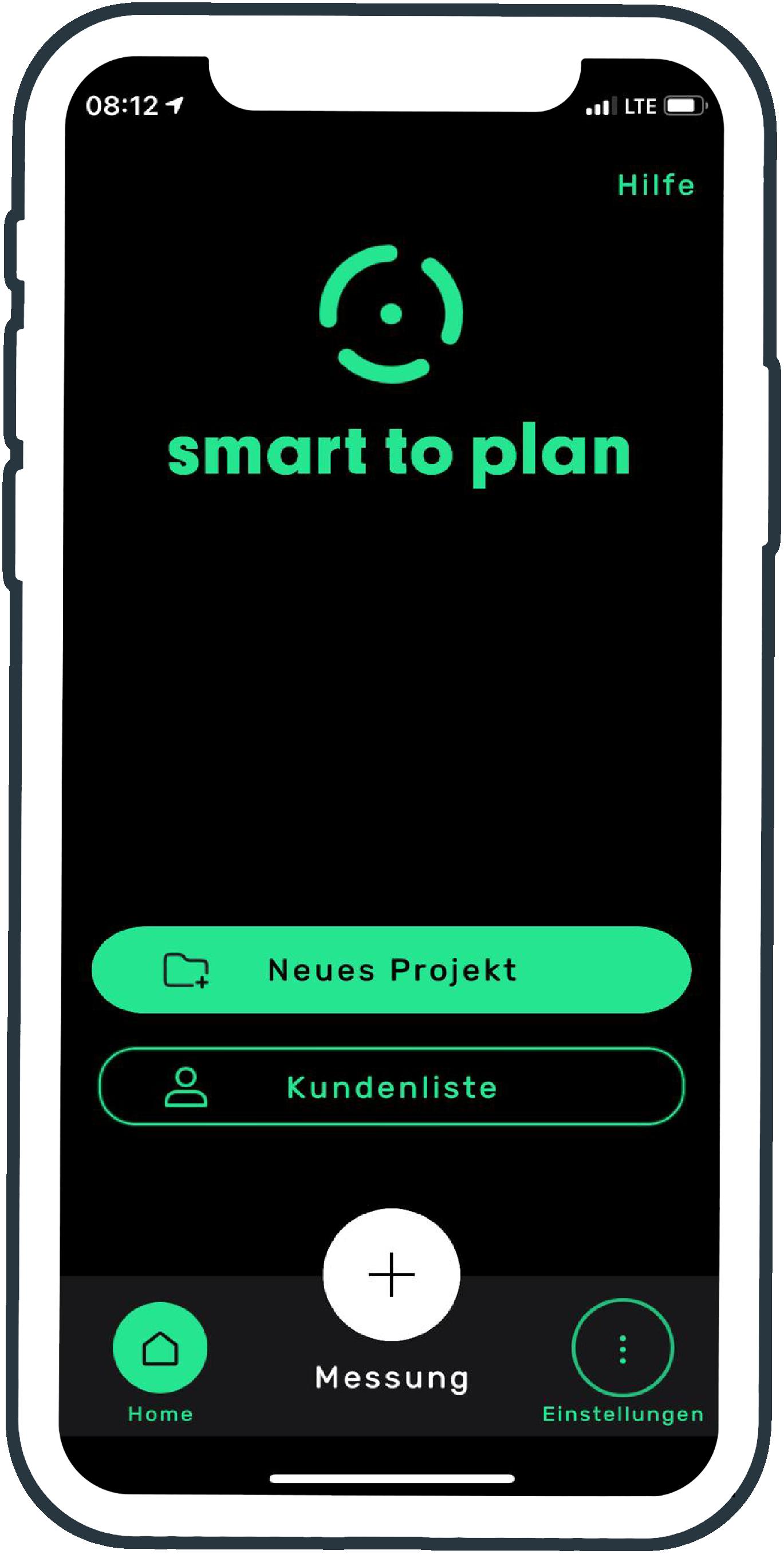 Startseite Messung starten smart to plan